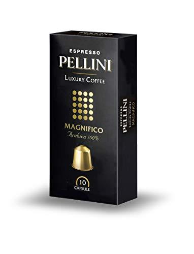 Pellini Caffè Café Compatible Nespresso Moulu Magnifico, Confezione da 2 pezzi (2 x 50 g)
