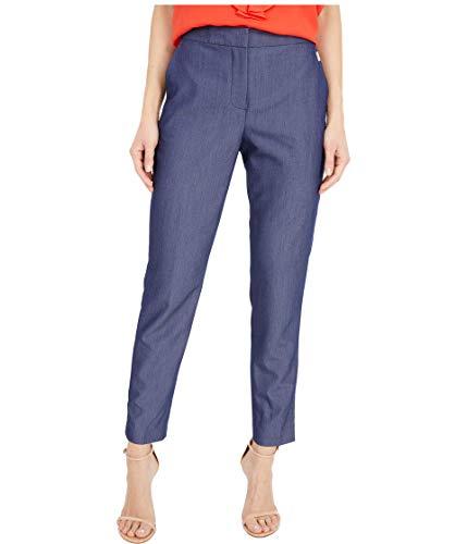 Tommy Hilfiger Women's Elastic Waist Straight Trouser Pant, Midnight/Blue, 8
