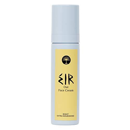 EIR Nährstoffreiche Hafer Gesichtscreme für die Nacht | Intensiver Feuchtigkeitsschub für trockene und empfindliche Haut | Reich an Omega Fettsäuren und Vitamin B, C und E | 50 ML