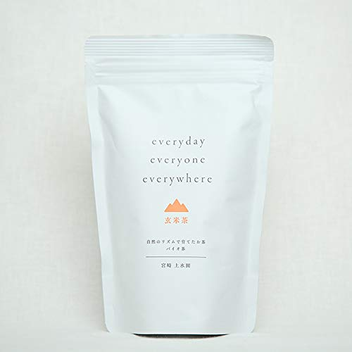 上水園 「everyday 玄米茶」 100g 無農薬 無化学肥料 一番茶 宮崎県 国産玄米 バイオ茶