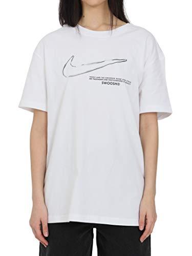 Nike Femme Boy Swoosh T shirt, Blanc, XS EU