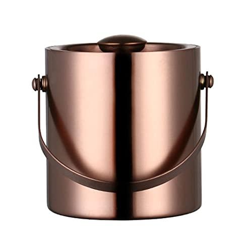 HUMINGG Secchiello per Il Ghiaccio Champagne da 3 Litri/Oro Rosa/Argento Liquore in Acciaio Inox Ghiaccio Freddo (Color : Champagne)
