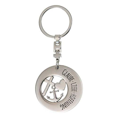 GILDE Schlüsselanhänger Glaube -Liebe-Hoffnung,Anker,Herz,Kreuz
