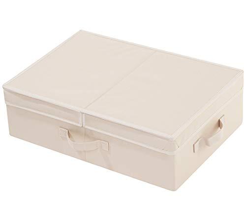 AMX Caja de Almacenamiento Plegable de Tela con Tapa, Cesta de Almacenamiento de Armario...