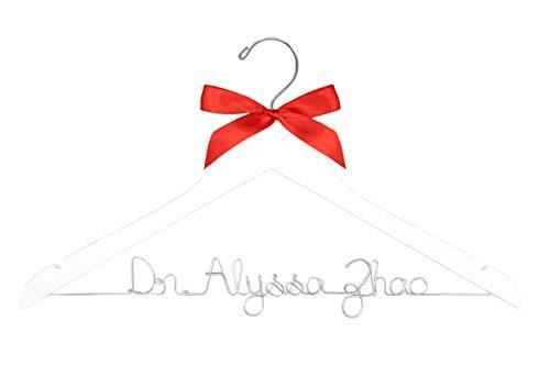 Doctor Hanger, Medical School Graduation, New Doctor Gift, PhD Gift, First White Coat, White Coat Ceremony, Lab Coat Hanger, Custom Hanger