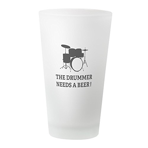CafePress - Drummer Beer - Pint Glass, 16 oz. Drinking Glass