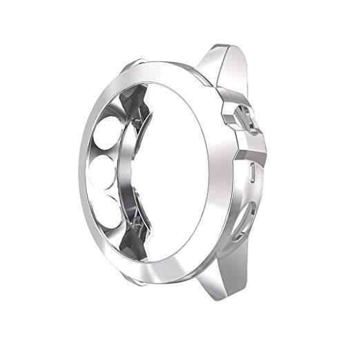Coque pour Garmin Fenix 5X, JSxhisxnuid Transparents TPU Silicone Case Ultra-Mince Étui de Protection Anti-Chocs Anti-Rayures Couverture,pour Garmin Fenix 5X (Argent)