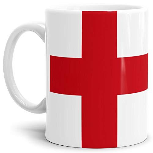 Tassendruck Flaggen-Tasse England - Kaffeetasse/Mug/Cup - Qualität Made in Germany