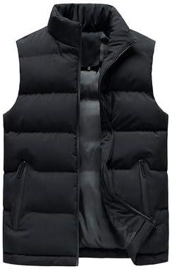LYLY Vest Women Men Jacket Winter Men Vest for Down Cotton Sleeveless Jacket Waistcoat Man Big Size Warm Waistcoats Coat Vest Warm (Color : Black, Size : XXL)