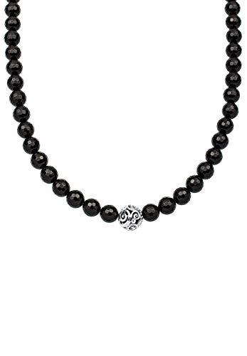 Elli Halskette Damen Kugel Ornament Onyx in 925 Sterling Silber