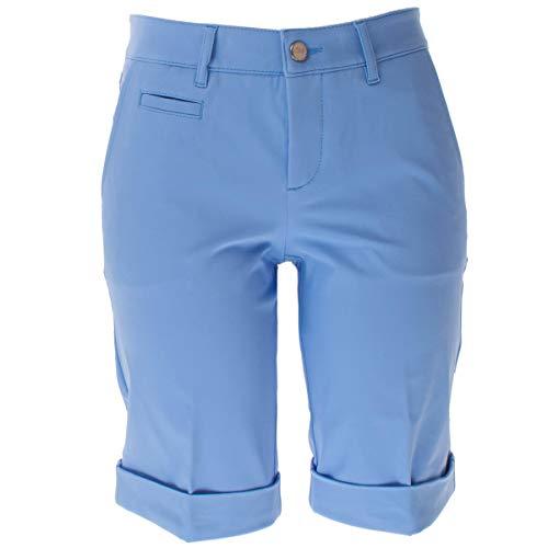 ALBERTO Damen Golfhose Golf Bermuda Shorts Audrey-K 3xDry in Blau/Hellblau Größe 36