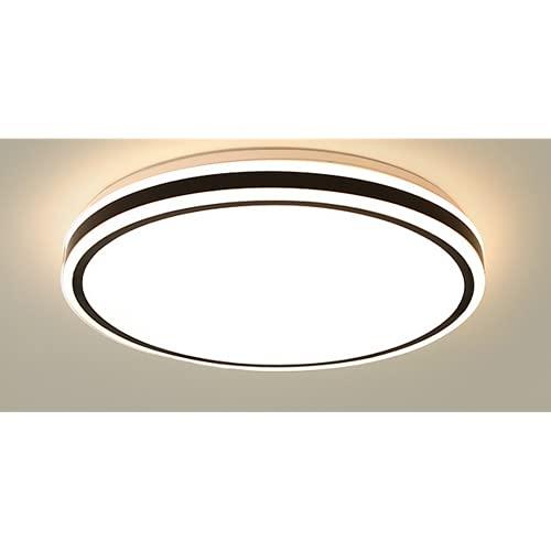 Led Lámpara De Techo Regulable,Plafon De Techo Con Mando A Distancia,Iluminación De Techo,Lámparas Simples De Acrílico Nórdico,Forma Redonda,50Cm-72W Luz Blanca