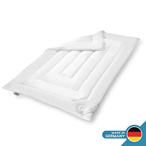 Schlafmond Klimatraum Sommerdecke 155 x 200 cm, klimaregulierende Bettdecke besonders geeignet für stark schwitzende Menschen, waschbar bis 40 Grad, Made in Germany