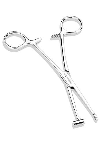 Bucket End Tragus Type Forceps Body Piercing Tool - Pierced Owl