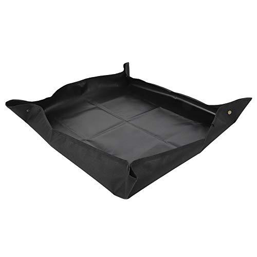 【𝐑𝐞𝐠𝐚𝐥𝐨 𝐝𝐢 𝐍𝐚𝐭𝐚𝐥𝐞】 Tappetino da Giardinaggio Pieghevole Facile da trasportare per piantine di Piante, Tappetino da rinvaso per vasi, per irrigazione in Vaso(Black)