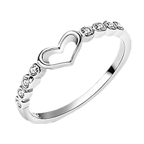 MSYOU BIGBOBA Wave Ring Slim Wavy Shape Elegant Tail Ring Jewellery Birthday Gifts for Lady Girls(Silver)