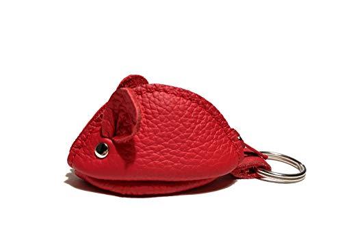 WANDERMAUS REDY Groschenmaus Portemonnaie aus Leder. Maus Tasche Geldbörse Schlüsselanhänger Maus