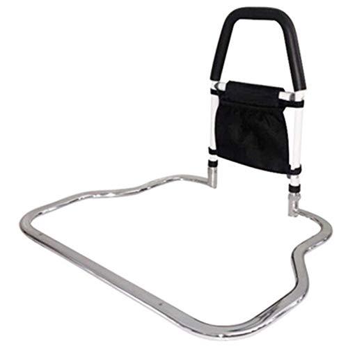 Stevig bedhek, bedbeugel voor lattenbodems, steunhandgreep helpt bij het in- en uitstappen van elektrisch verstelbaar bed, huishoudelijk bed, boxspring of houten bedframe, ouderen, gehandicapten Hul