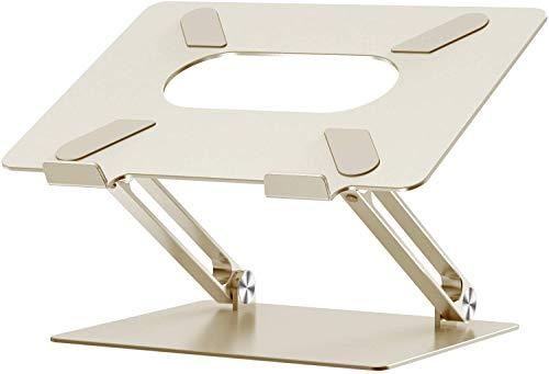 Laptop Ständer Universal PC Halter Höhenverstellbar Ergonomischer Notebook-Ständer Halterung, Riser für alle 10-17 Laptops