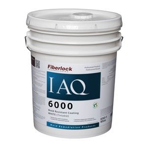 Fiberlock - IAQ 6000 - Mold Resistant Coating - White - 5 Gallon Pail - 8360 by Fiberlock Technologies
