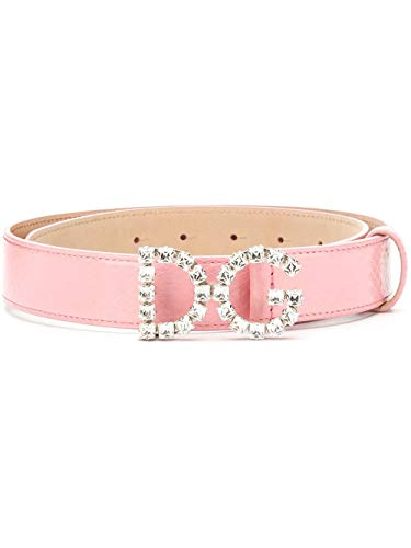Dolce e Gabbana Luxury Fashion Damen BE1311AU9238H426 Rosa Leder Gürtel | Jahreszeit Permanent