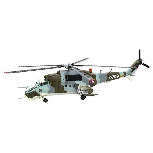 GLXLSBZ Modelo de avión, Modelo de helicóptero MI-24 de la Fuerza aérea Rusa a Escala 1/72, coleccionables y Decoraciones para Adultos