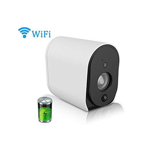RMXMY Teléfono Red Cámara de vigilancia inalámbrica Pequeñas Casas móviles Remoto autónomo batería Monitoreo luz de visión Nocturna HD (Size : with Memory Card 32G)