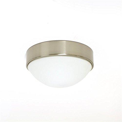 LUX de lámpara LED Lámpara de techo plafón Aki Cristal Pantalla níquel Diámetro 24cm Pantalla de Cristal