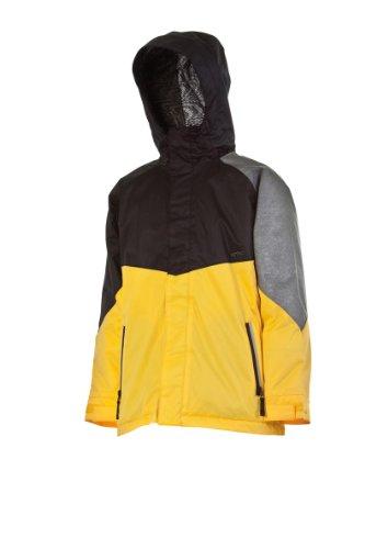 Nitro Snowboards Kinder Jacke WHITE RIOT 13, black-yellow-gr, L, 1131-873064