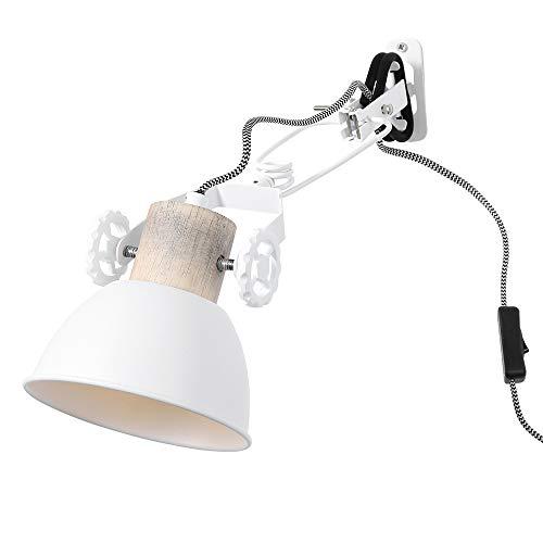 Steinhauer 2752W - Lámpara de pared (roble, ajustable, para habitaciones, comedores, habitaciones, lectura), color blanco