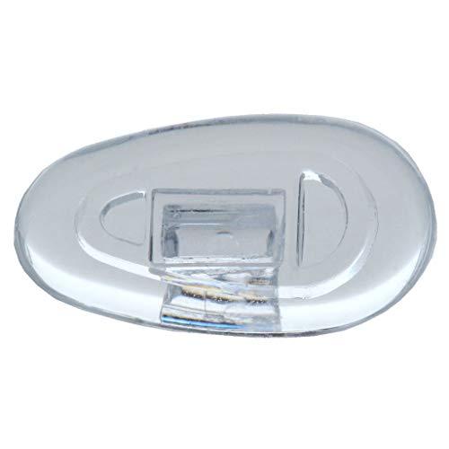 2 Paar (4 Stück) Nasenpads/Brillenpads - Silikon Klicksystem, verschie. Größen (Tropfen 13mm)