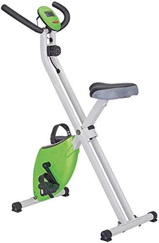 WWXY Bicicleta magnética Plegable Resistencia a la Bicicleta Bicicleta Vertical Volante de Bicicleta para el hogar Cardio Gym con cómodo cojín del Asiento para Uso doméstico Equipo de Gimnasio