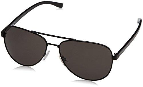 Hugo Boss Boss 0761/S NR 10G Gafas de sol, Negro (Mtblk Black/Brw Grey), 60 Unisex-Adulto