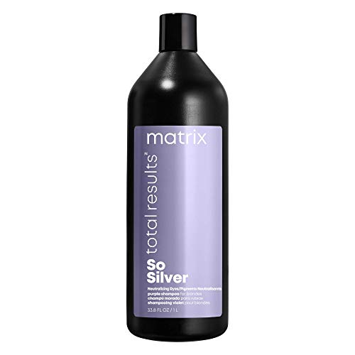 MATRIX Total Results So Silver Color Depositing Purple Shampoo for Blonde and Grey Hair, 33.8 Ounce