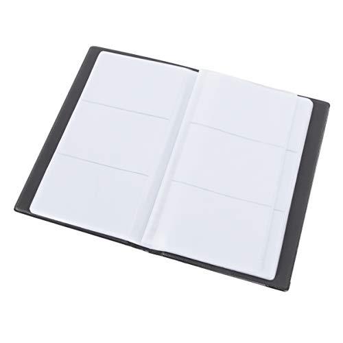 NUOBESTY 240 Ranuras Tarjeta de Visita Libro ID Tarjeta de Crédito Estuche de Almacenamiento Carpeta Organizador de Archivos de Tarjeta de Nombre para Oficina