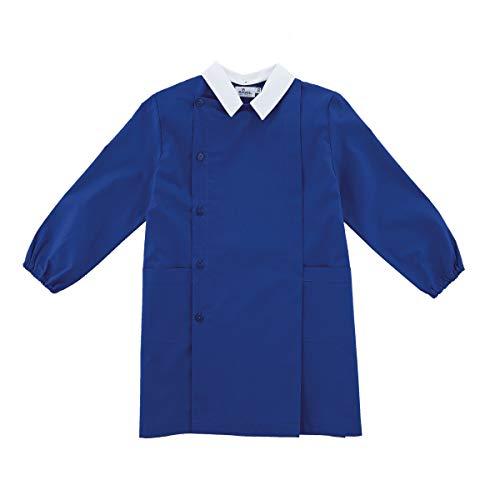 siggi Grembiule Scuola Linea Happy School - Elementare Bambino Colore Blu Senza Ricamo - Abbottonatura Laterale con Bottoni, Colletto Bianco. Disponibile nelle taglia dalla 6 a 15 anni