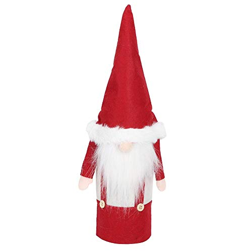 Kerstmis kerstman pop rode wijn afdekking champagne fles wrap bar huis restaurant decoratie kerstcadeau 1#