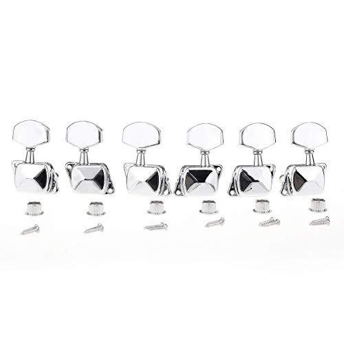 Musiclily 3+3 Estilo Semi Sellado Clavijas de Afinación Clavijero de Repuesto para...