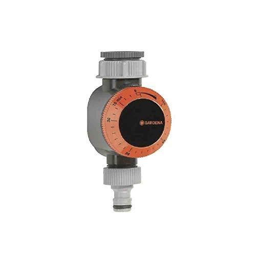 GARDENA Bewässerungsuhr: Automatische Zeitschaltuhr für Wasserhähne 26.5 mm (G 3/4) oder 33.3 mm (G1), flexible Bewässerungsdauer (5-120 min), leichtes Anschließen dank Schnellstecksystem (1169-20)