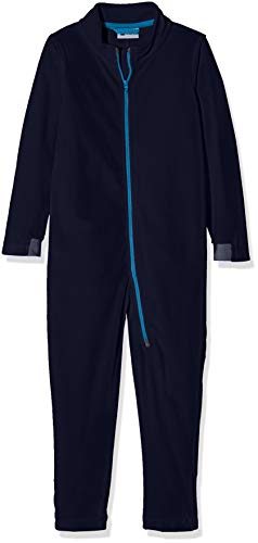 LEGO Wear Kids & Baby Coverall Fleece Underwear with Chin Guard protector and Reflective Detail, Dark Navy, 12-18 M