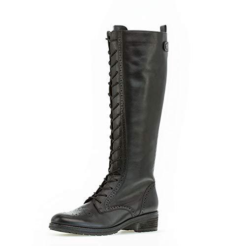 Gabor Damen Stiefel,Reißverschluss,Schaftweite M Vario, langstiefel lederstiefel schnürstiefel reißverschluss weiblich,schwarz,40.5 EU / 7 UK
