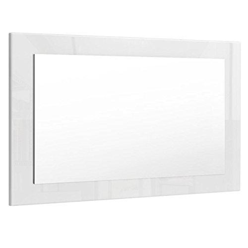 Espejo de Pared Lima 89cm en Blanco de Alto Brillo