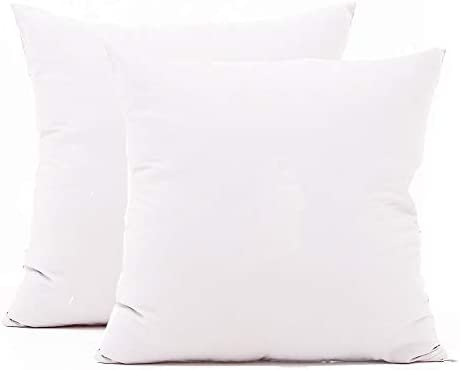 TAOSON Set of 2 100 Cotton Soft Square Decorative Throw Pillow Protector Pillow Covers Sofa product image
