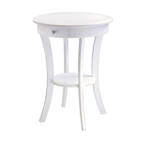 best white accent bedside table