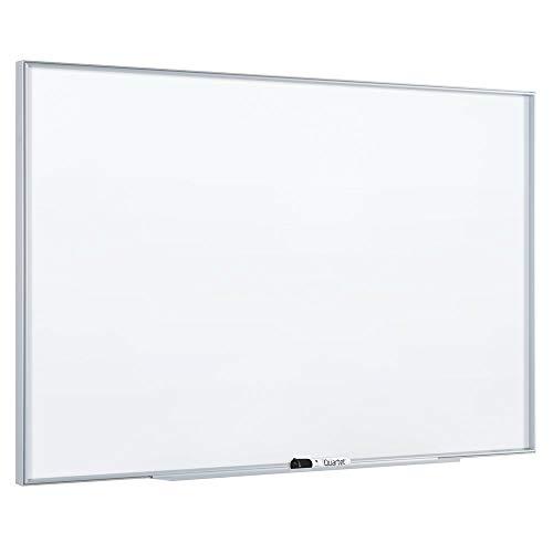 Quartet Pizarra blanca magnética, 3 por 2 pies, marco de aluminio plateado (NA3624F)