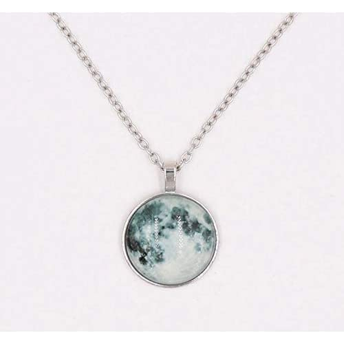 KHUSHWANI ENTERPRISE Vintage Long Moon Glow In The Dark Necklace for Women (Multicolour)