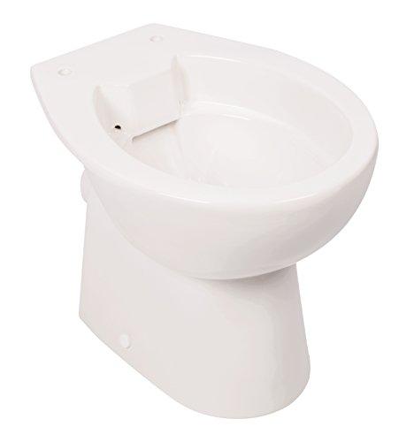 \'aquaSu® Spülrandloses Stand-WC   Tiefspüler   Abgang waagerecht   Weiß   Toilette   Spülrandloses WC   Klo ohne Rand   Stand-WC Randlos   mit Bodenbefestigung   57240 8