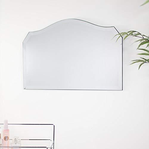 Melody Maison Espejo de pie curvado vintage sin marco, 40 cm x...
