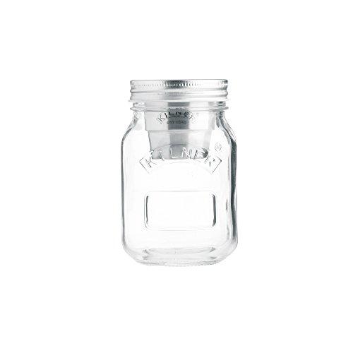 KILNER Snack To-Go-Glas - der ideale 2Go Lunchbecher für unterwegs, clever | stylisch | schadstoffrei | 0,5 Liter