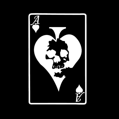 GSPOGTY Paquete de Pegatinas para Coche [3 Piezas], 15 CM * 9,7 CM Bone Poker para portátil, Bicicleta, Motocicleta, Pegatinas para portátiles, Pegatinas para Parachoques